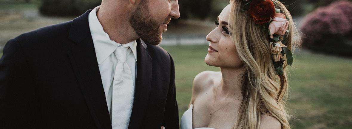bride and groom Make-up