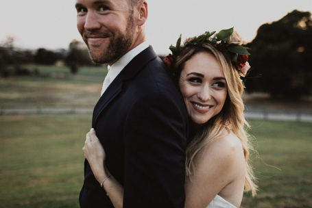 flower crown bride make-up